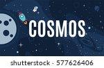 vector flat cosmos design... | Shutterstock .eps vector #577626406