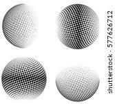 3d Vector Halftone Spheres....