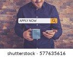 apply now concept | Shutterstock . vector #577635616