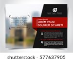 vector brochure  flyer template ... | Shutterstock .eps vector #577637905