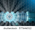 abstract futuristic glow 3 | Shutterstock .eps vector #577646512