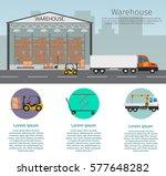 warehouse interior of storage... | Shutterstock .eps vector #577648282