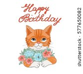 Vector Of Birthday Card With...