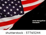 american flag as background for ... | Shutterstock . vector #57765244