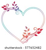 heart shaped frame with... | Shutterstock . vector #577652482