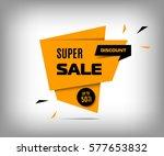 super sale banner  trendy... | Shutterstock .eps vector #577653832