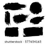 grunge brushes texture white... | Shutterstock . vector #577654165