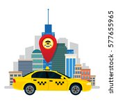 taxi service. the car taxi on...   Shutterstock .eps vector #577655965