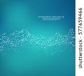 molecule dna and neurons vector.... | Shutterstock .eps vector #577659466