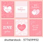 set of happy valentine's day... | Shutterstock .eps vector #577659952