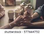 proposal of marriage  in... | Shutterstock . vector #577664752