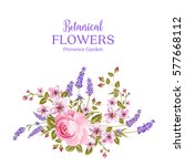botanical flowers garland. the... | Shutterstock .eps vector #577668112