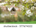 Little Birdhouse In Spring Wit...