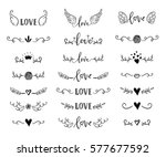 handdrawn borders set with... | Shutterstock .eps vector #577677592