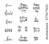 happy valentines day phrases... | Shutterstock .eps vector #577677652