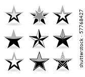 black vector star set | Shutterstock .eps vector #57768427