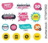 sale shopping banners. special... | Shutterstock .eps vector #577697002
