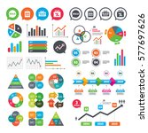business charts. growth graph.... | Shutterstock .eps vector #577697626