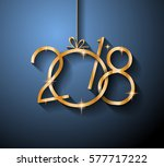 2018 happy new year background... | Shutterstock .eps vector #577717222
