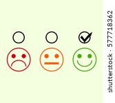 good mood in a bad mood on a... | Shutterstock .eps vector #577718362
