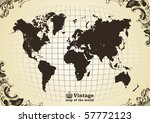 vintage old map of the world... | Shutterstock .eps vector #57772123