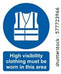 mandatory action sign  wear... | Shutterstock .eps vector #577723966