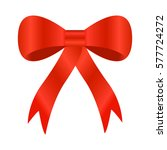 realistic red bow isolated on... | Shutterstock .eps vector #577724272