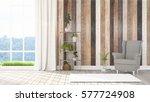 modern bright interior . 3d... | Shutterstock . vector #577724908