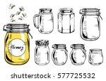 vector illustration of a glass... | Shutterstock .eps vector #577725532