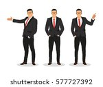 businessman in various poses ... | Shutterstock .eps vector #577727392