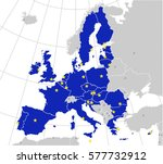 european union map with... | Shutterstock .eps vector #577732912