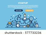 website banner design concept... | Shutterstock .eps vector #577733236