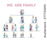 linear flat we are family... | Shutterstock .eps vector #577733392