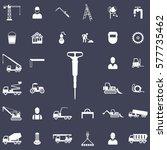 jackhammer icon. construction... | Shutterstock .eps vector #577735462