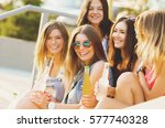 friends have fun together and... | Shutterstock . vector #577740328