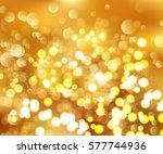 shining bokeh vector... | Shutterstock .eps vector #577744936