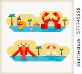 water parks   Shutterstock .eps vector #577745338