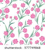 flowers seamless pattern.... | Shutterstock .eps vector #577749868