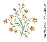 floral bouquet set. wild ...   Shutterstock .eps vector #577750162