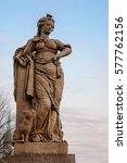 freedom figure  allegorical... | Shutterstock . vector #577762156