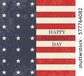 presidents day. map of america. ... | Shutterstock .eps vector #577764082