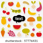 various fruits and vegetables... | Shutterstock .eps vector #57776431