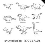 dinosaur coloring book cartoon... | Shutterstock .eps vector #577767106
