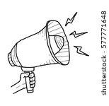 loudspeaker doodle | Shutterstock .eps vector #577771648
