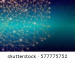 abstract polygonal space cyan... | Shutterstock . vector #577775752