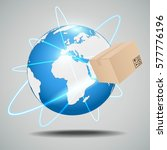 global logistics network | Shutterstock .eps vector #577776196