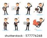 Business Man Working Poses. Man ...