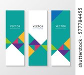 a set of corporate banners | Shutterstock .eps vector #577784455