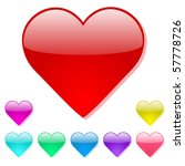 colorful vector heart icons | Shutterstock .eps vector #57778726