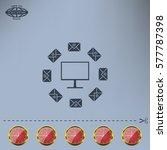 mail computer  vector... | Shutterstock .eps vector #577787398